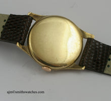 SMITHS EARLY 9CT GOLD WRISTWATCH HALLMARKED 1946/7