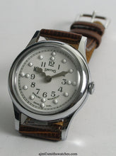 SMITHS EARLY BRAILLE HALF HUNTER WRISTWATCH 1960'S EXCELLENT CONDITION