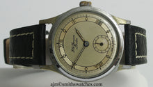 J W BENSON LONDON SMITHS MADE IN ENGLAND ROMAN NUMERAL DIAL DENNISON AQUATITE CASE C 1953 5