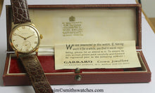 GARRARD SMITHS RETAILED FOR FORD PRESENTATION WATCH WITH SMITHS 18 JEWEL HIGHEST GRADE MANUAL MOVEMENT IN THE ORIGINAL FORD BOX WITH PAPERS