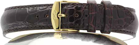 STRAP ZRC 519 CROCODILE GRAINED CALF LEATHER WITH NUBUCK OR BIO-COMFORT BACK AS SUPPLIED