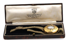 SMITHS EARLY S.SMITH 1915 HALF HUNTER 18CT GOLD LONGINES 13.56 WRISTWATCH BOXED CANVAS STRAP