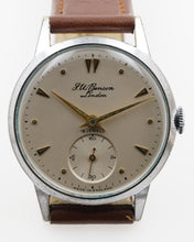 J W BENSON HIGH GRADE 18 JEWEL CHROME AND STEEL GENTS ENGLISH WRISTWATCH