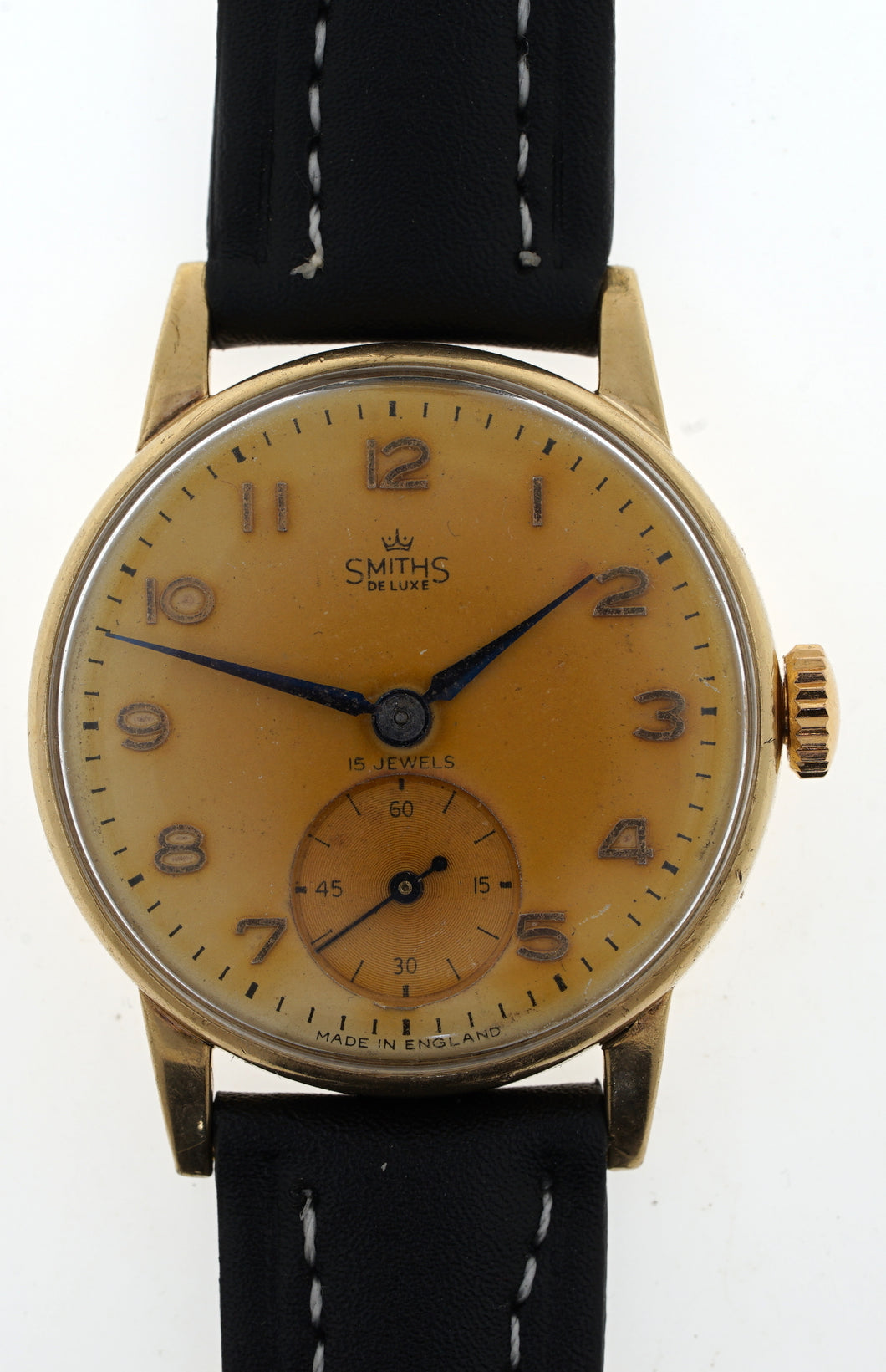 DELUXE SMITHS 9CT GOLD BRITISH RAIL ISSUE LONG SERVICE WATCH GOOD WORKING ORDER 1960