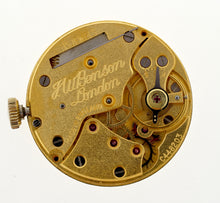 J W BENSON SMITHS 15J 9CT GOLD TI CUSHION PRESENTATION WATCH 1960