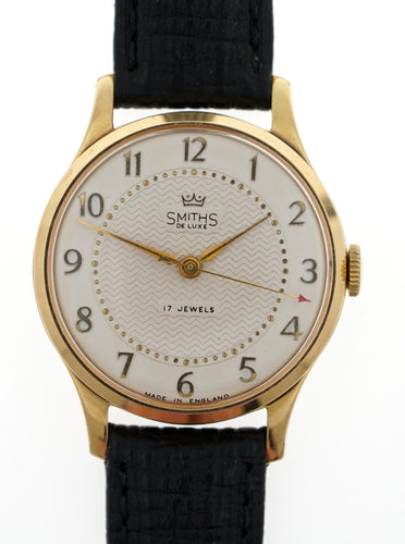 DELUXE SMITHS MODEL A361 17 JEWEL GENTS WATCH IN SUPERB CONDITION C 1955