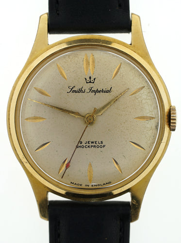 IMPERIAL SMITHS GOLD PLATED 19J ENGLISH WRISTWATCH IN GOOD WORKING ORDER