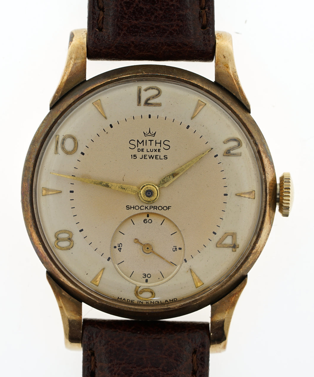DELUXE SMITHS A504 HALLMARKED SOLID 9T GOLD 1959 PRESENTATION WATCH