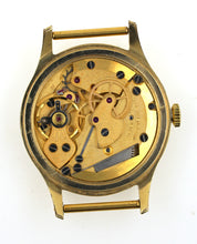 SMITHS ASTRAL NATIONAL 17 JEWEL 1960'S GOLD PLATE AND STEEL ENGLISH WRISTWATCH.