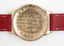 DELUXE SMITHS LARGE SIZED 1953 9CT GOLD WRISTWATCH SERVICED EXCELLENT