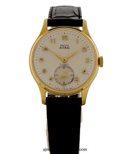 ASTRAL SMITHS GENTS VINTAGE 15 JEWEL 1960'S WRISTWATCH IN VERY GOOD CONDITION