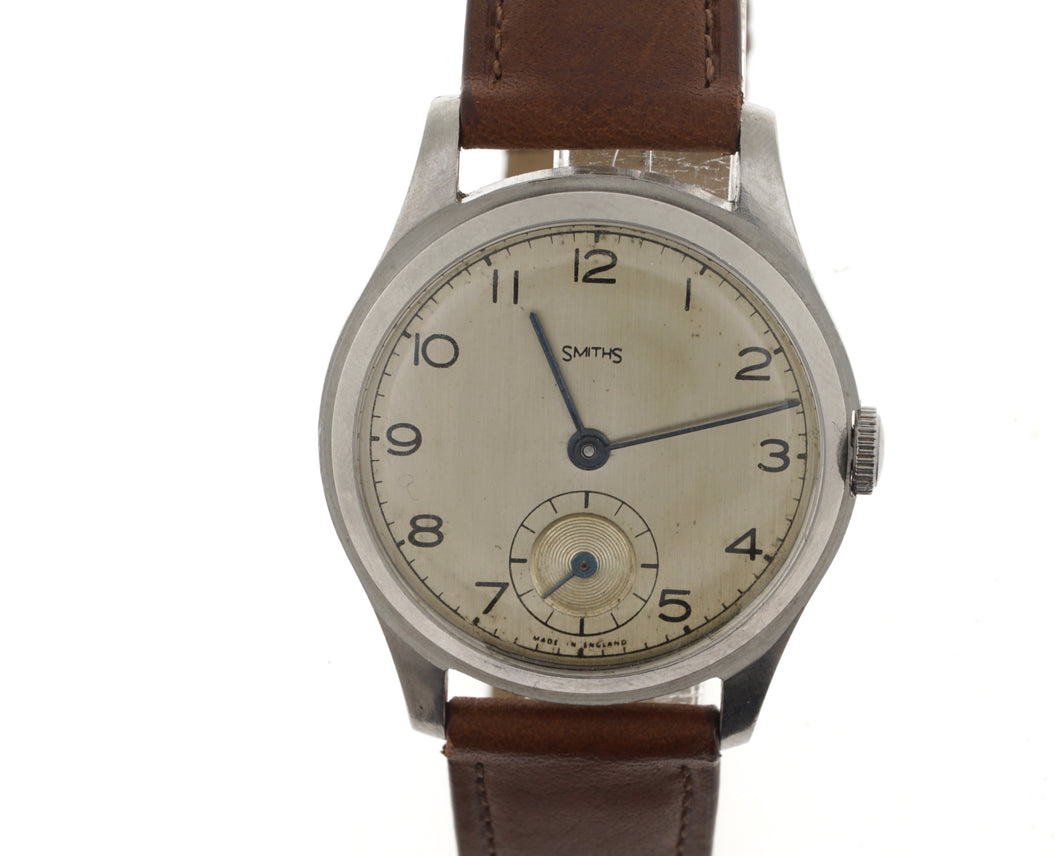 SMITHS EARLY 6RG FULLY STAINLESS STEEL 1947 WRISTWATCH SERVICED