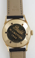 SMITHS BRISTOL AVIATION 9CT DENNISON CASED WATCH WITH BOX PAPERS 1956