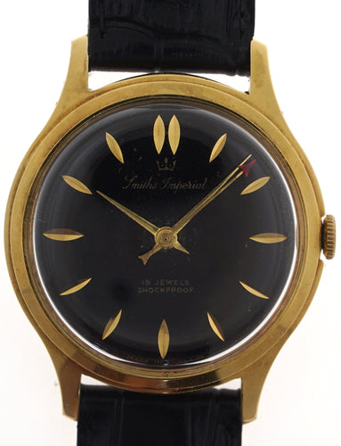 IMPERIAL SMITHS BLACK DIAL VINTAGE GENTS WRISTWATCH CIRCA 1960