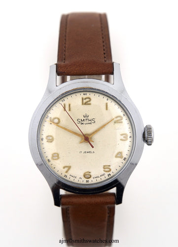 DELUXE SMITHS A452 PATTERN EXPLORERS MODEL WRISTWATCH C 1958