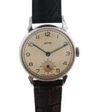 SMITHS EARLY 12.15 HORN LUG CHROME AND STAINLESS STEEL 1951 WRISTWATCH SERVICED