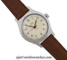 DELUXE SMITHS ENGLISH ANTARCTIC EXPEDITION PATTERN WRISTWATCH 17J SERVICED MODEL A454 c1955 6