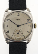 SMITHS EARLY MADE IN ENGLAND SILVER CUSHION CASED ICI PRESENTATION WATCH 1940'S 4