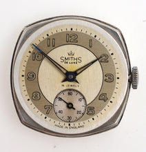 SMITHS DELUXE CUSHION 16J SILVER WRISTWATCH 1966 WITH VERY RARE SHOCKPROOFING