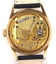 DELUXE SMITHS BISTOL AVIATION 9CT SCREW BACK DENNISON 9CT GOLD WATCH 1956 SERVICED