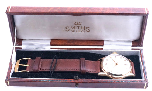 SMITHS BRISTOL MOTORS OR CARS GOLD 1956 WRISTWATCH BOXED EXCELLENT WITH BOX