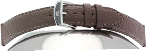 STRAP ZRC 612 BUFFALO GRAINED CALF LEATHER STRAP, PADDED