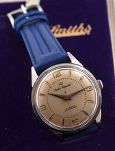 IMPERIAL SMITHS ALL STAINLESS STEEL GENTS ENGLISH WRISTWATCH C1964 SIGNED BOX
