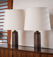 Load image into Gallery viewer, Chestnut Haresfur Table Lamp Set