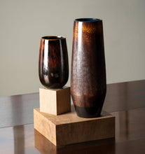 Load image into Gallery viewer, Amber Glazed Vase Set