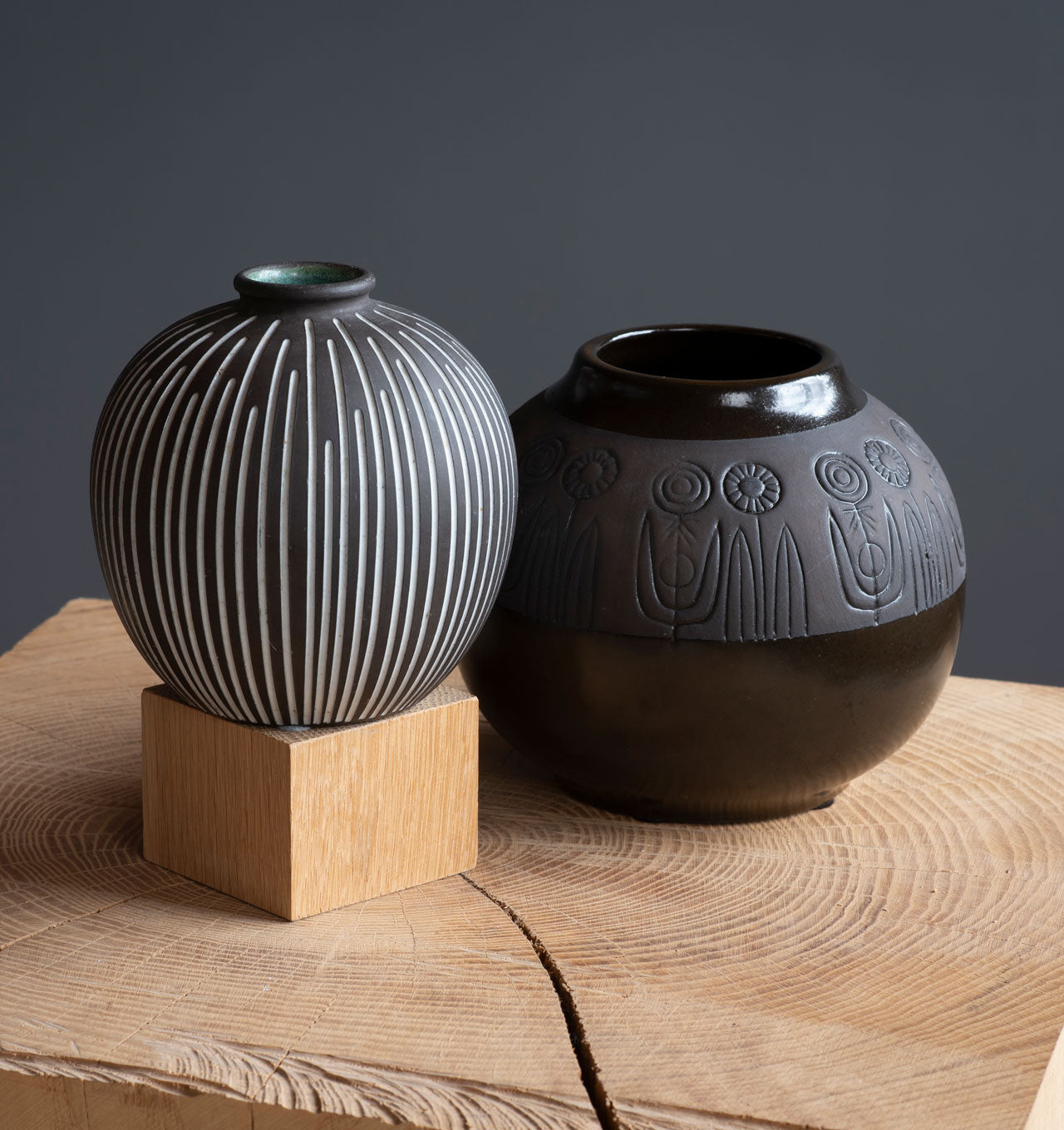 Striped and Rabatt Series Vases