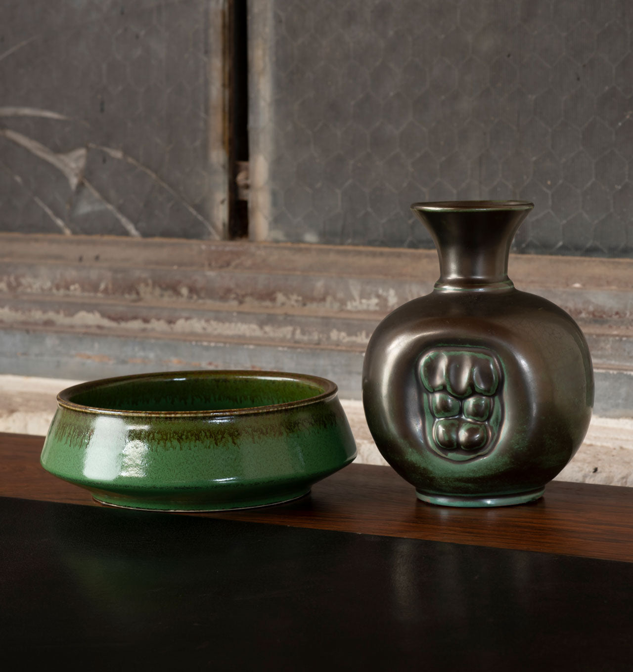 Swede Green Bowl and Vase