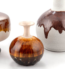 Load image into Gallery viewer, Brown Drip Glaze Vase Set