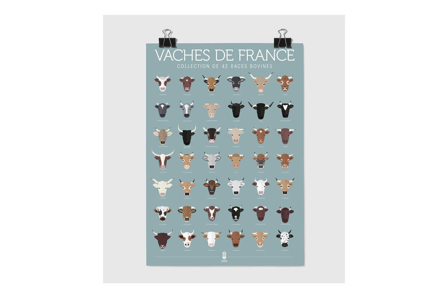 Affiche Les vaches de France
