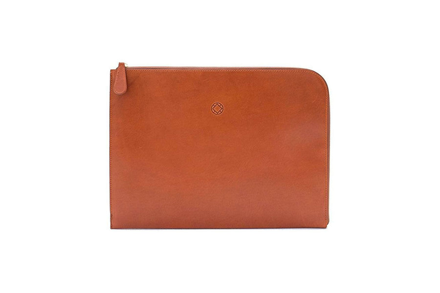 Porte-documents en cuir marron