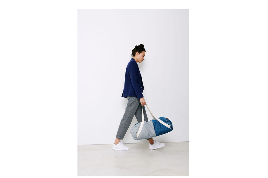 Sac de sport en denim