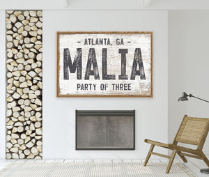 Apartment Farmhouse Name Sign