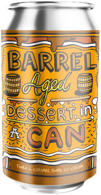 Amundsen Barrel Aged Dessert In A Can Tonka & Caramel Swirl Ice-Cream