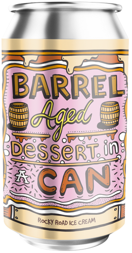 Amundsen Barrrel Aged Dessert In A Can Rocky Road Ice Cream