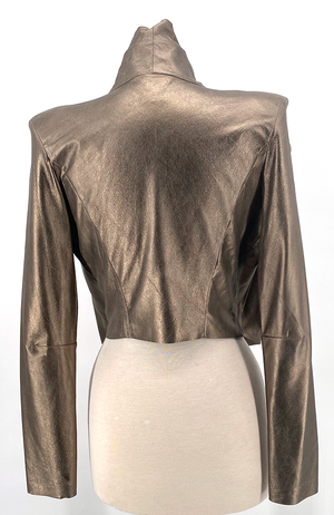 the Metallic Leather Blazer
