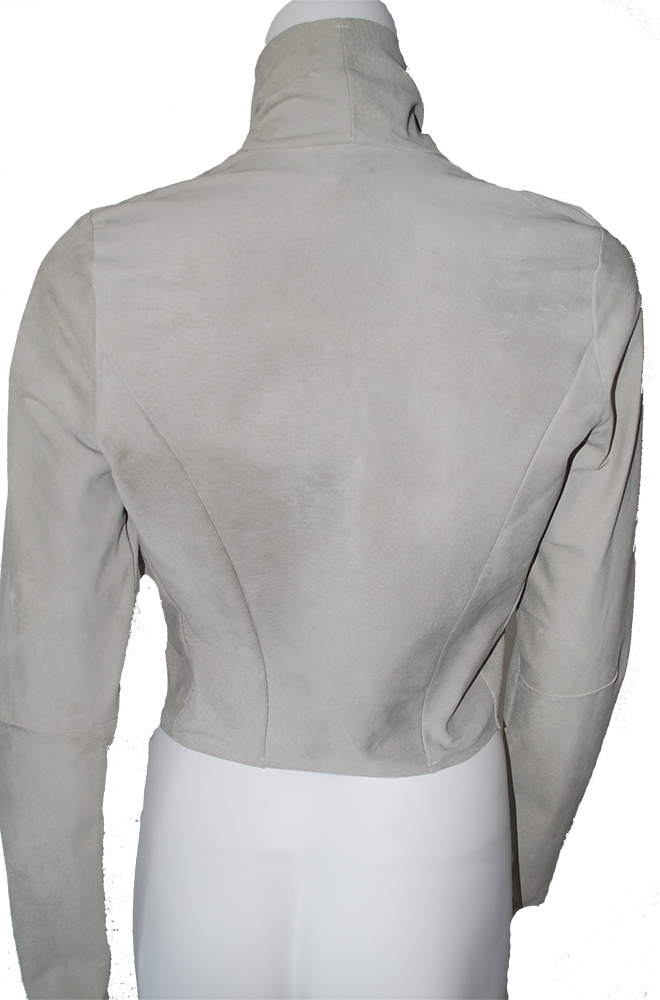 the Draped Suede Jacket