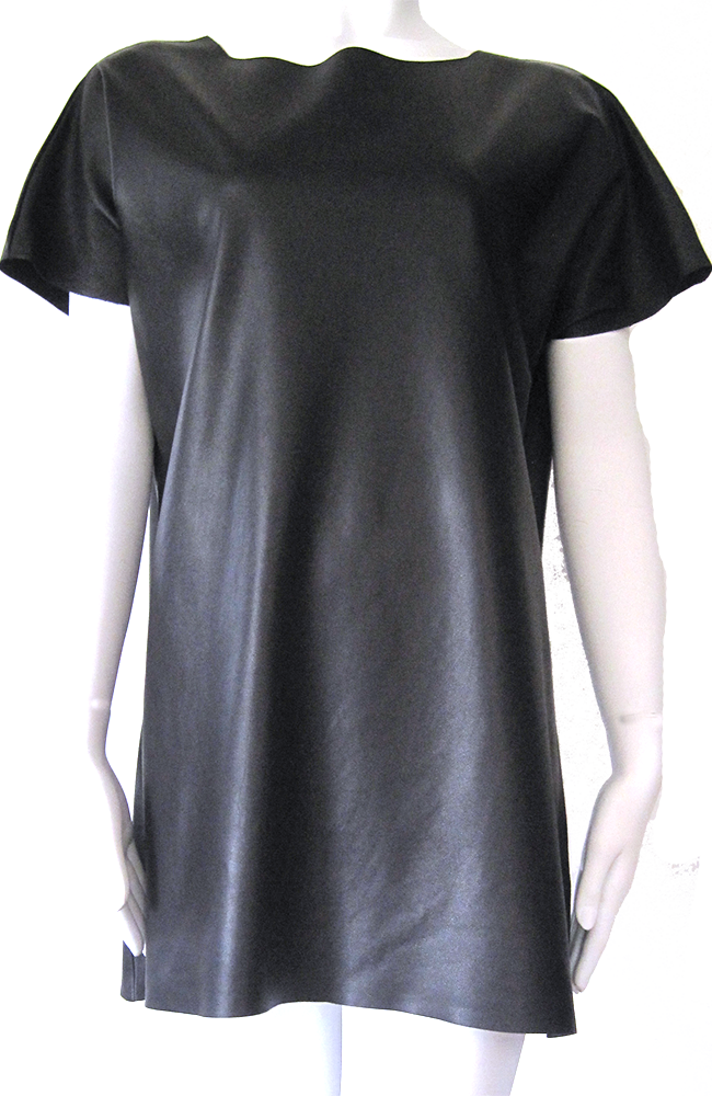 the Crew Neck Leather Dress