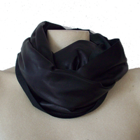 the Leather Scarf