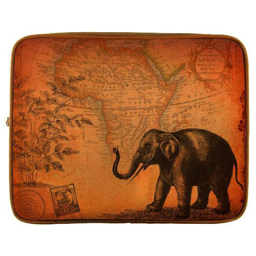Elephant Vegan Leather Tablet/iPad Sleeve - Grape Cat
