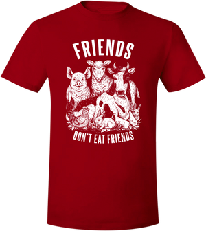 Friends Don't Eat Friends T-Shirt - Grape Cat