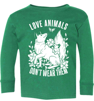 Love Animals Fox Kids Long Sleeve - Grape Cat