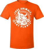 Love Animals - Year of the Ox Dark T-Shirt by Grape Cat Vegan Clothing Brand
