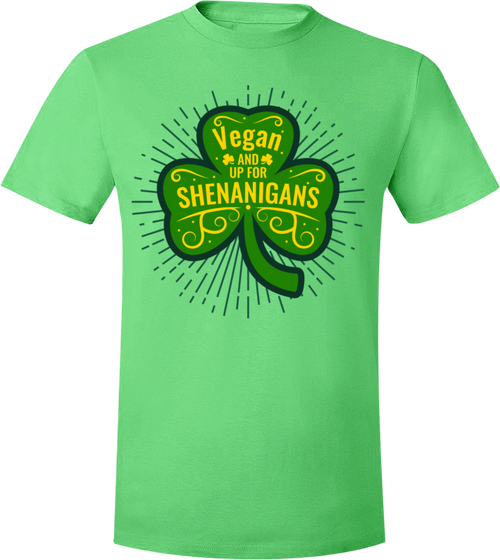 Vegan and Up for Shenanigans T-Shirt - Grape Cat