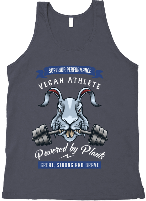Vegan Athlete Rabbit Tank Top by Grape Cat Vegan Clothing Brand