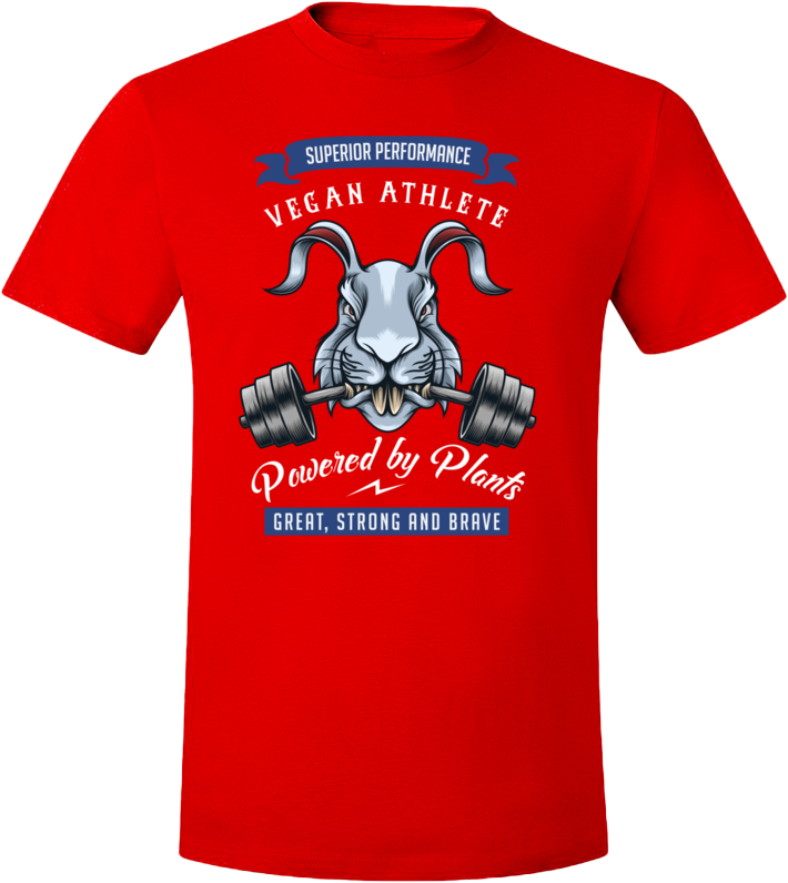 Vegan Athlete Rabbit T-Shirt - Grape Cat