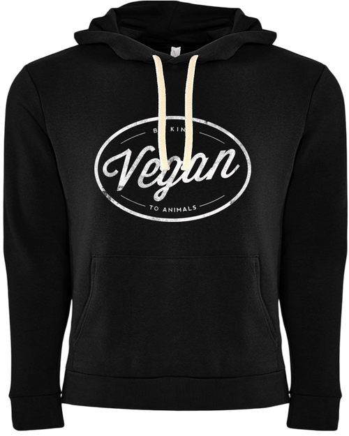 Vegan Hoodie by Grape Cat Vegan Clothing Brand